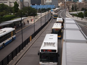 High capacity BRT, like the one pictured in Brisbane come at a  cost