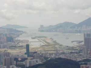 View on Kai Tak, the Former Hong Kong Airport.